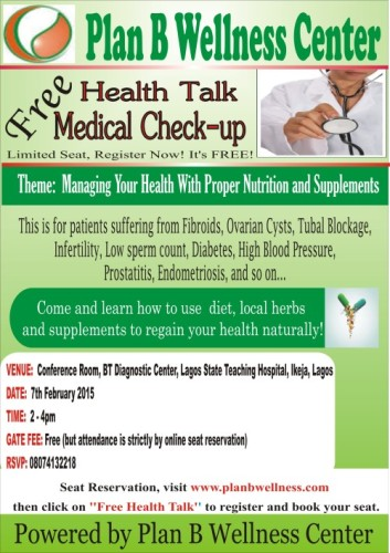 FREE HEALTH TALK/MEDICAL CHECK-UP : 7/02/2015