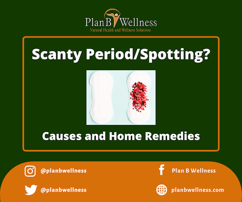 SCANTY PERIOD/SPOTTING: CAUSES AND HOME REMEDIES
