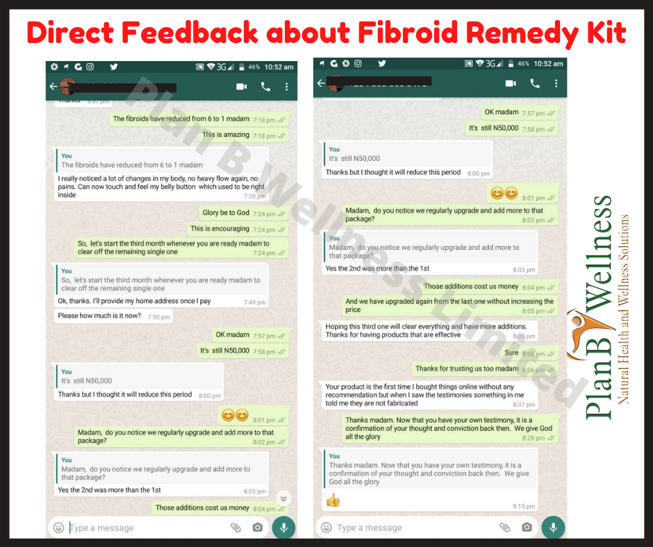 feedback about plan b wellness fibroid remedy kit