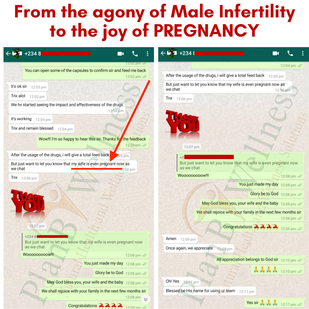 male infertility testimony plan B Wellness