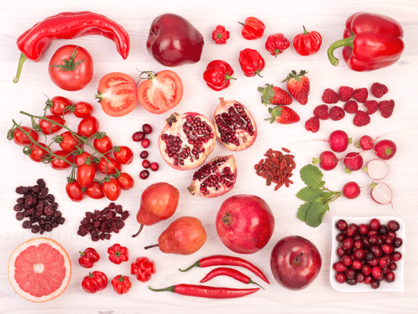 Red fruits and vegetables for sexual health
