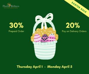Easter Promo Plan B Wellness
