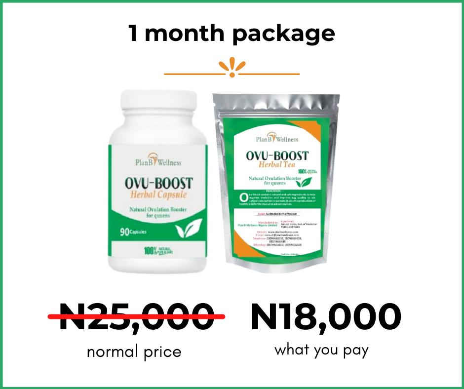 Ovu-Boost capsule 1 month package